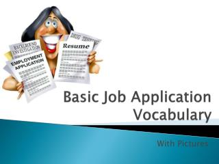 Basic Job Application Vocabulary