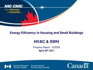 Energy Efficiency in Housing and Small Buildings HVAC & SWH