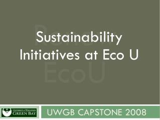 UWGB Capstone 2008