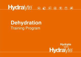 Dehydration  Training Program