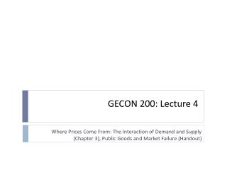 GECON 200: Lecture  4