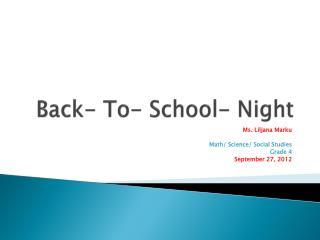 Back- To- School- Night