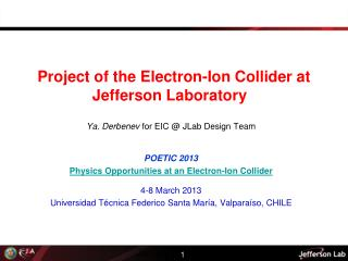 Project of the Electron-Ion Collider at Jefferson Laboratory