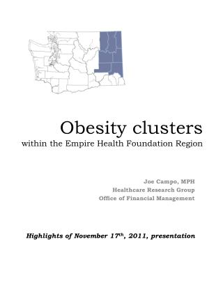 Obesity clusters within the Empire Health Foundation Region