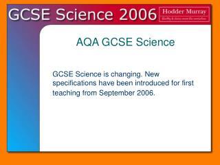 aqa gcse science