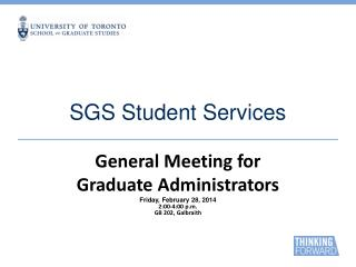SGS Student Services