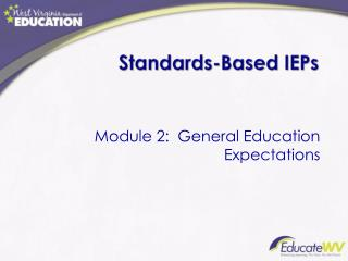 Standards-Based IEPs