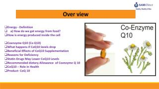 Energy - Definition      a) How do we get energy from food?  How is energy produced inside the cell Coenzyme Q10 (Co Q1