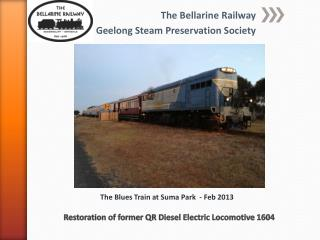 Restoration of former QR Diesel Electric Locomotive 1604