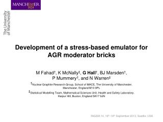 Development of a stress-based emulator for AGR moderator bricks