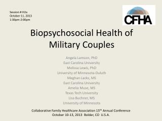 Biopsychosocial  Health of  Military Couples