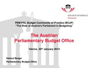Helmut Berger Parliamentary Budget Office