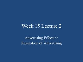 Week 15 Lecture 2