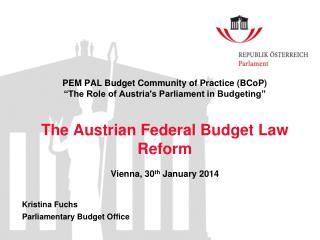 Kristina Fuchs Parliamentary Budget  Office
