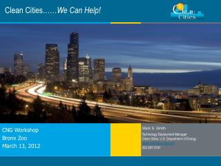 Clean Cities…… We Can Help!