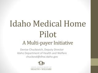 Idaho Medical Home Pilot A Multi-payer Initiative