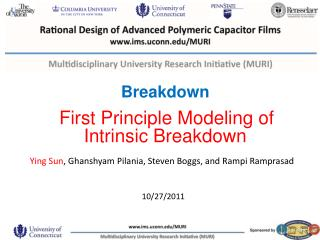Breakdown First Principle Modeling of Intrinsic Breakdown