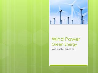 Wind Power Green Energy