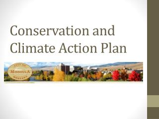 Conservation and Climate Action Plan