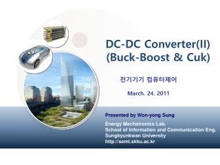 DC-DC Converter(II) (Buck-Boost &  Cuk )