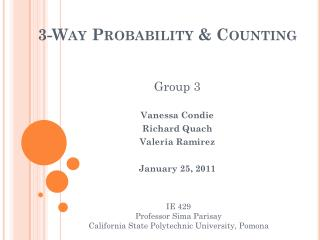 3-Way Probability & Counting