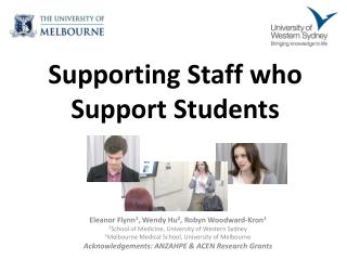 Supporting Staff  who  Support Students