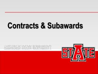 Contracts & Subawards