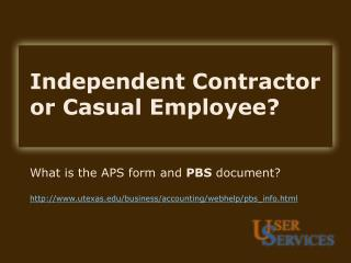 independent contractor  or casual employee