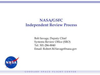 NASA/GSFC Independent Review Process
