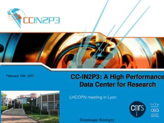 CC-IN2P3: A High Performance Data Center for Research
