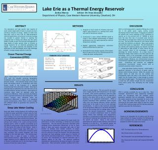 Lake Erie as a Thermal Energy Reservoir