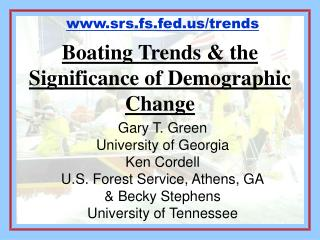 Boating Trends  the Significance of Demographic Change