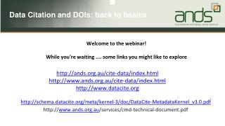 Welcome to the webinar! While  you're waiting ....  some  links  you might like to explore