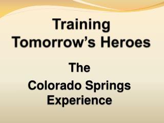 Training  Tomorrow's Heroes