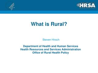 What is Rural?