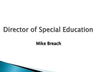 Director of Special Education