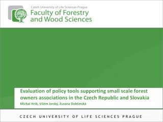Evaluation of policy tools supporting small scale forest owners associations in the Czech Republic and Slovakia