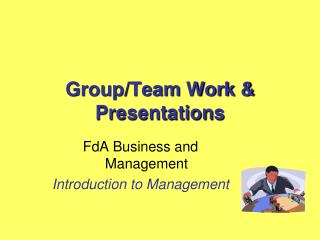 Group/Team Work & Presentations