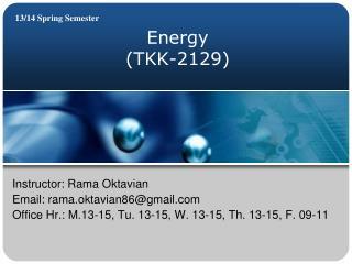 Energy (TKK-2129)