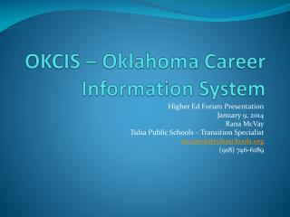 OKCIS – Oklahoma Career Information System