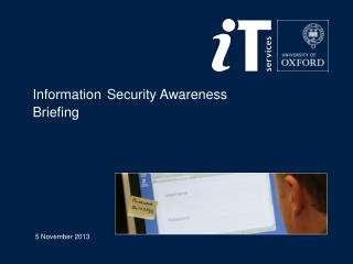 Information Security  Awareness  Briefing