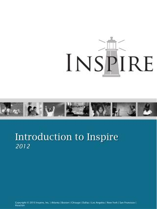 Introduction to Inspire