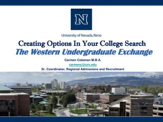 Creating Options In Your College  Search  The Western Undergraduate Exchange