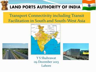 Transport Connectivity including Transit Facilitation in South and South-West Asia