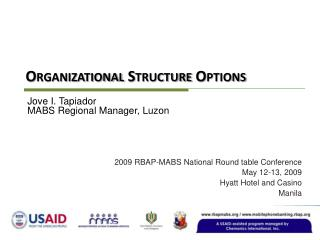 Organizational Structure Options