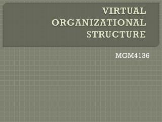VIRTUAL ORGANIZATIONAL STRUCTURE