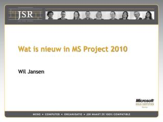 Wat is nieuw in MS Project 2010