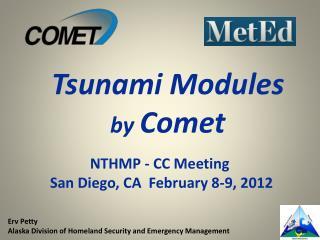 NTHMP - CC Meeting  San Diego, CA  February 8-9, 2012