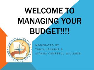 Welcome to  Managing Your Budget!!!!