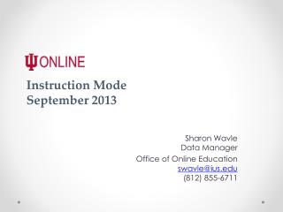 Instruction  Mode September 2013
